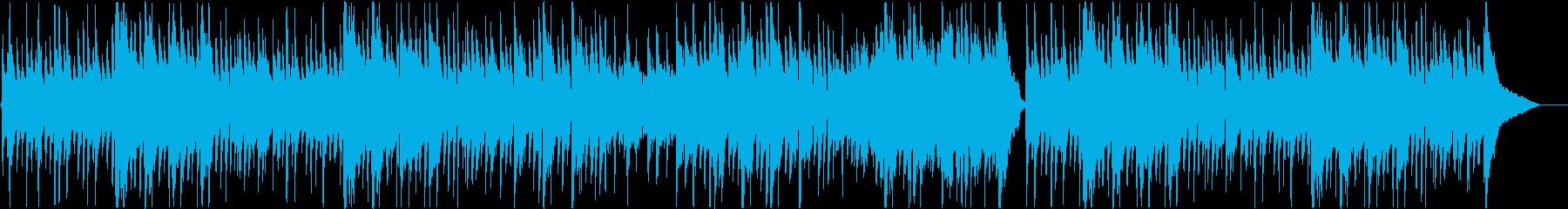 穏やかな日常をイメージしたアコギBGMの再生済みの波形