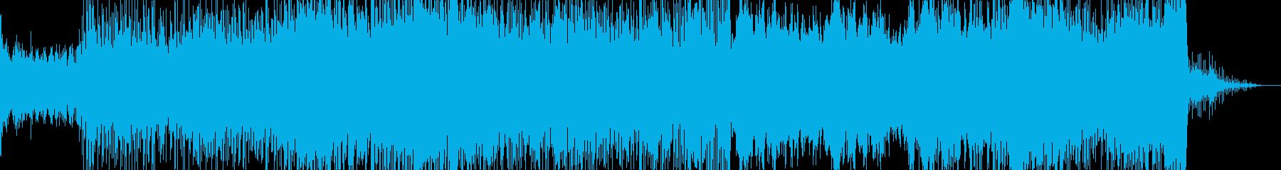 都会的な雰囲気のある打ち込み曲の再生済みの波形
