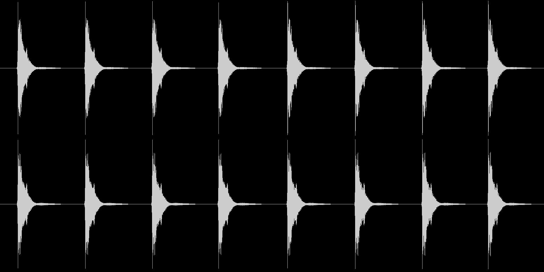 刀鍛冶 ハンマーの未再生の波形