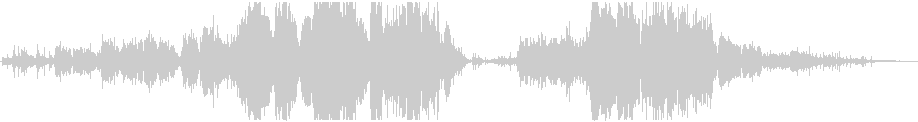 生演奏トランペットとフルートのバラードの未再生の波形