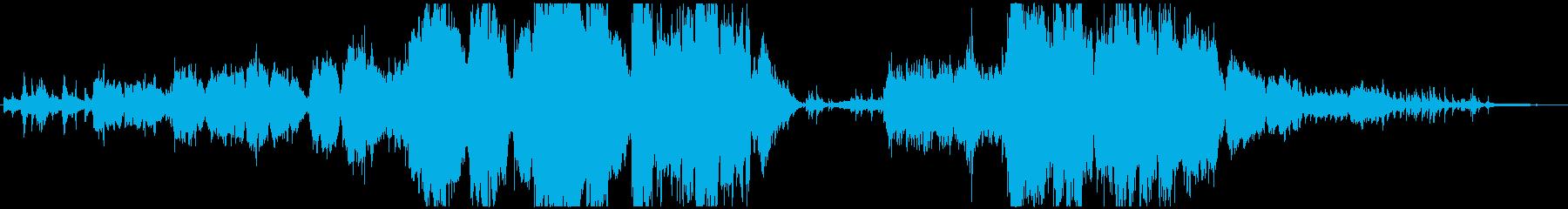 生演奏トランペットとフルートのバラードの再生済みの波形
