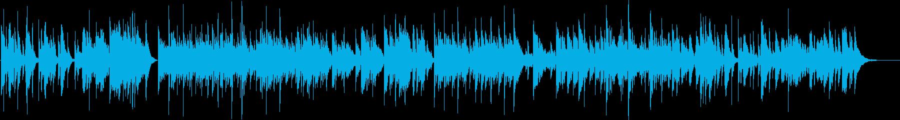 映像作品向け:哀愁&温かみ・ギタレレ独奏の再生済みの波形