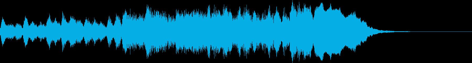 明るい曲調のオーケストラジングルですの再生済みの波形