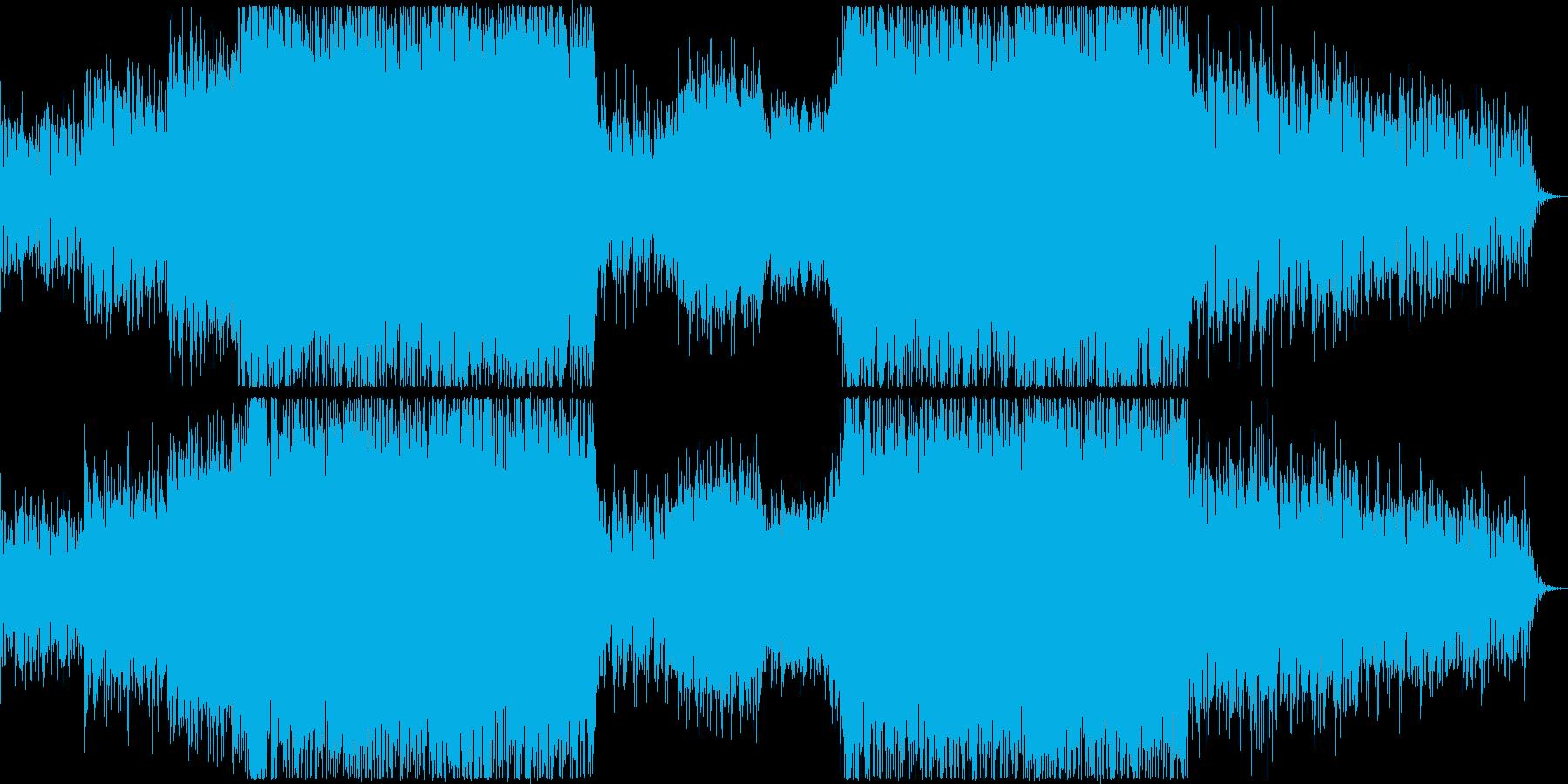 壮大な荒野シーンにて流れていそうな劇伴曲の再生済みの波形