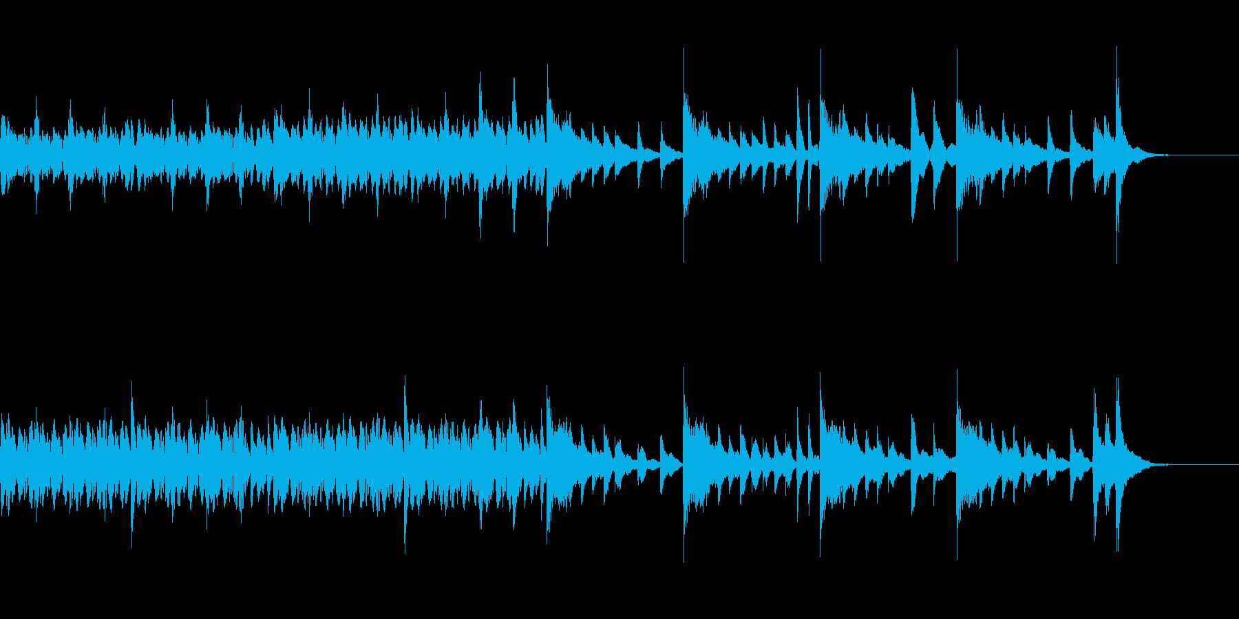 短いピアノ100BPM・3拍子の再生済みの波形