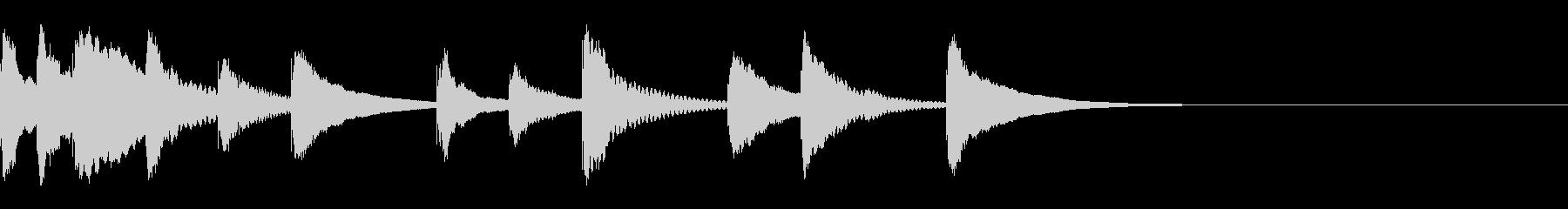 シロフォンの元気な3秒ジングルの未再生の波形