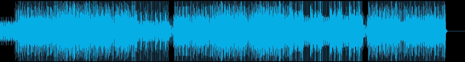 アラビア風、ピアノメインのテクノポップの再生済みの波形