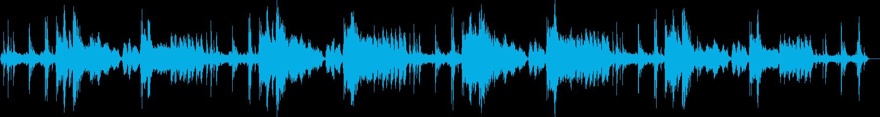 繊細な響きのあるピアノメロディーの再生済みの波形