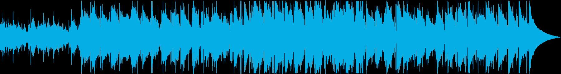 滑らかで心地よいアコースティックBGMの再生済みの波形