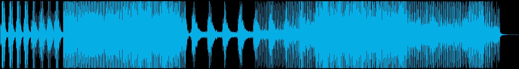 切なくピアノが響くプログレッシブハウスの再生済みの波形
