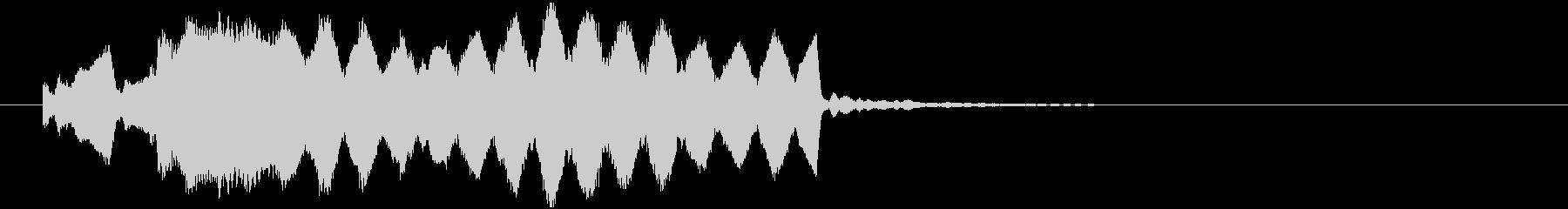正月番組に合う和風ジングルの未再生の波形
