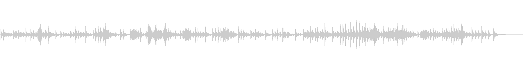 [オルゴール] ショパン  ノクターンの未再生の波形