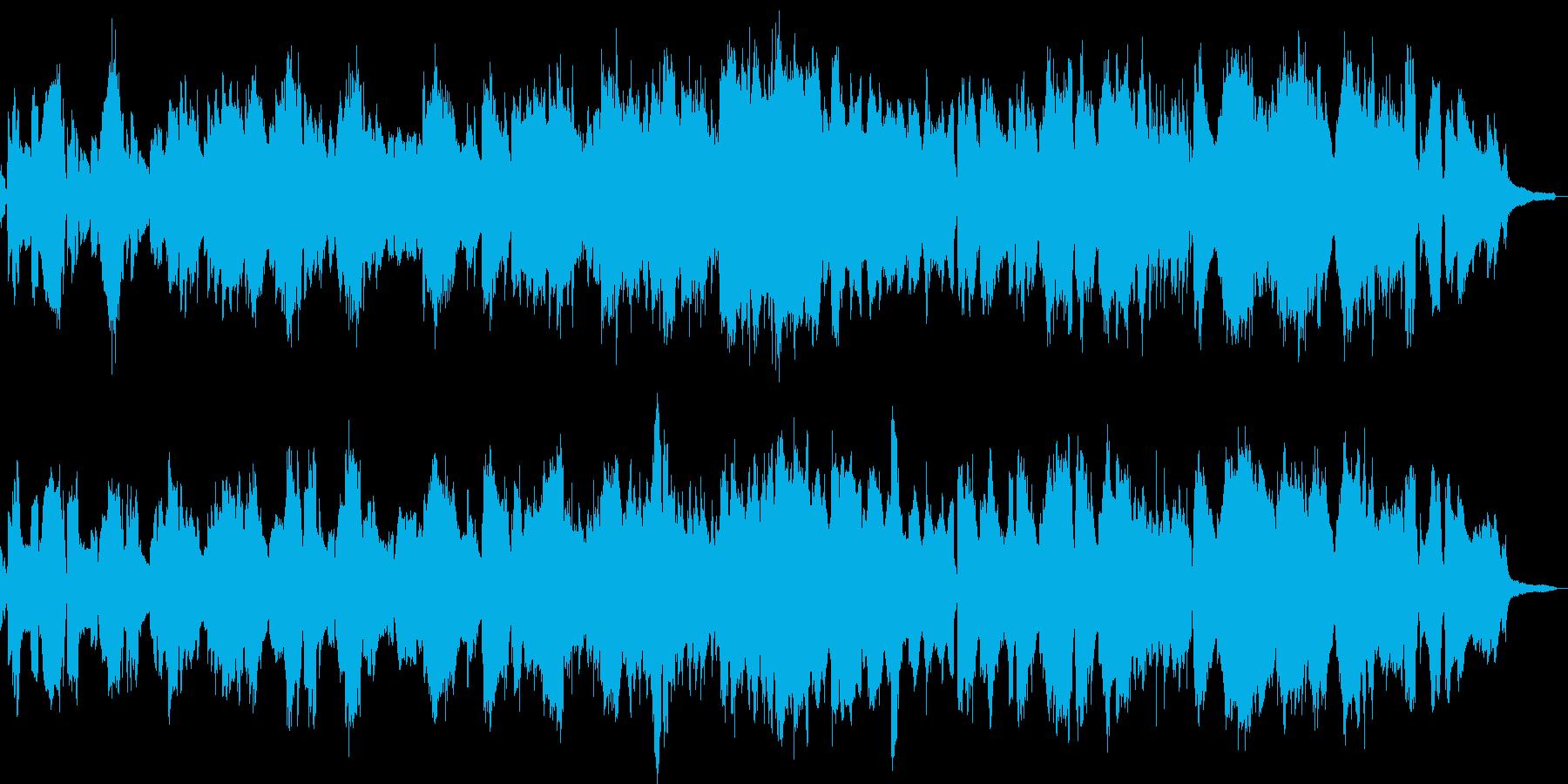 チェロが奏でる優しいメロディの再生済みの波形