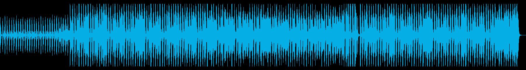 ウキウキ、手拍子、ギター、ピアノの再生済みの波形