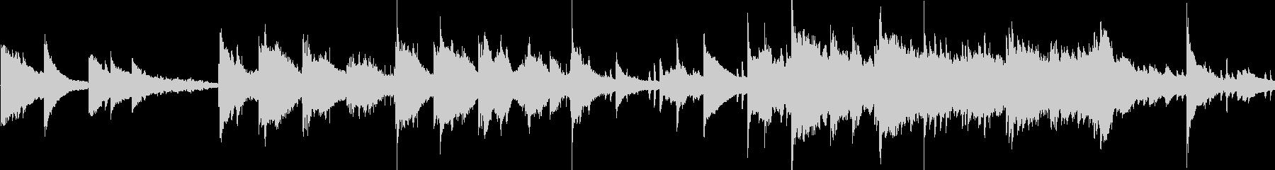 ゆったりとしたアンビエントなピアノ曲の未再生の波形
