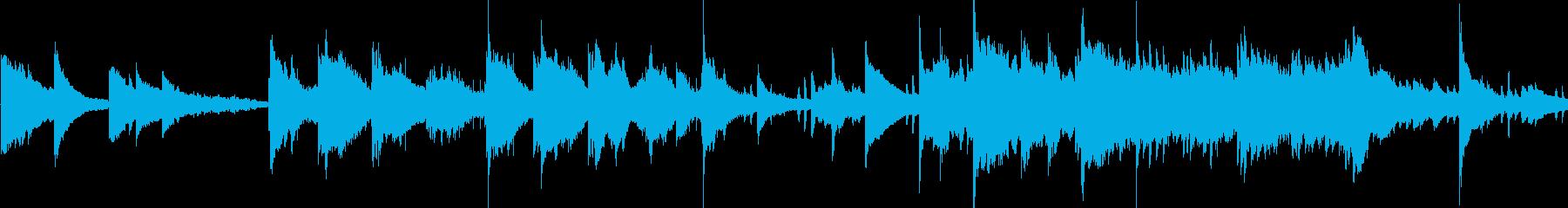 ゆったりとしたアンビエントなピアノ曲の再生済みの波形