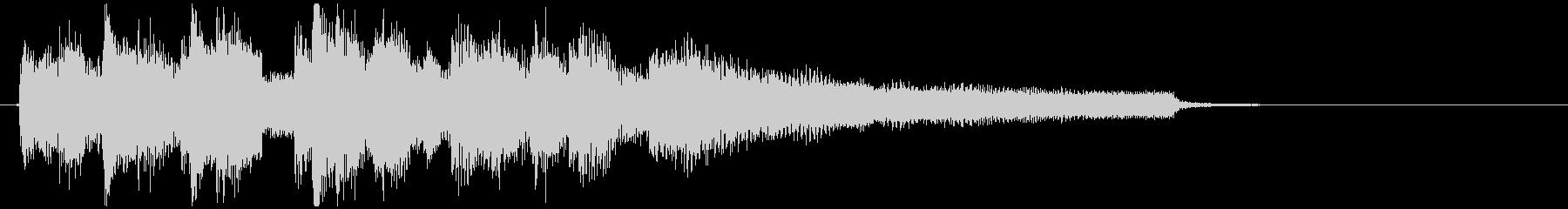 素敵な雰囲気のボサノヴァ系サウンドロゴの未再生の波形