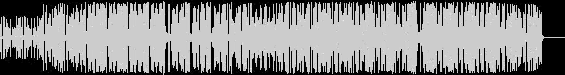 コミカルで明るいポップなBGMの未再生の波形