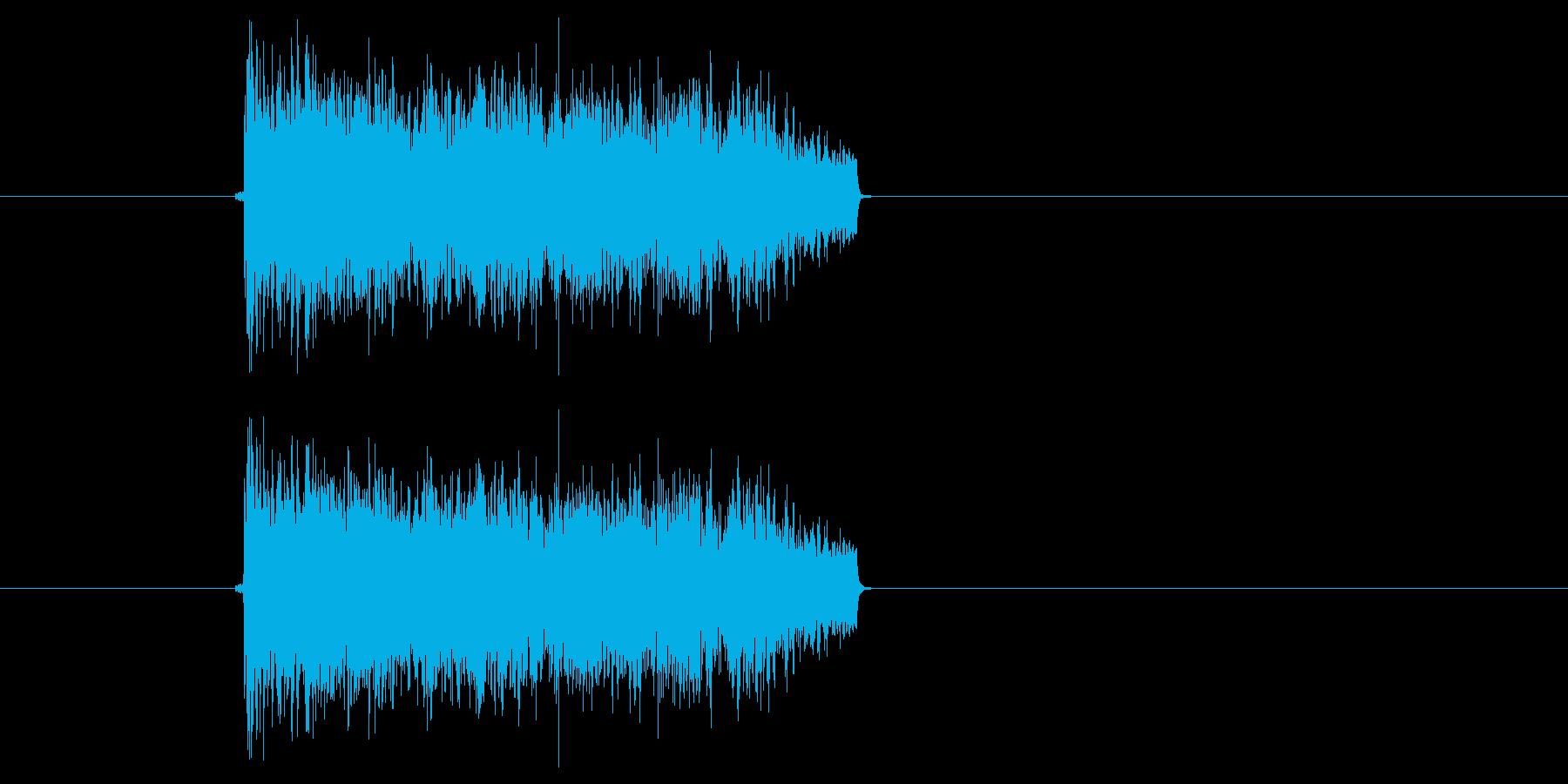 ポップス系サウンド(激しい、短い)の再生済みの波形