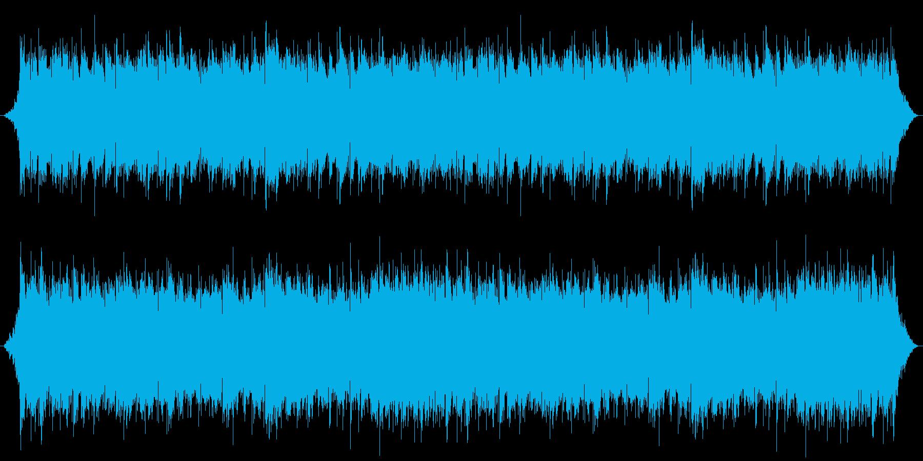 吹き抜ける風をイメージしたループ曲の再生済みの波形