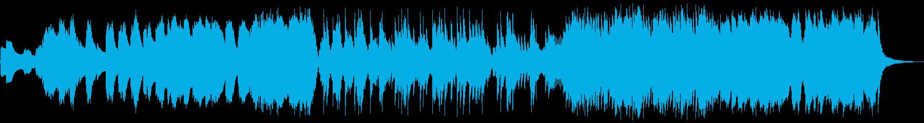 幻想的な映像、CMに宇宙系アンビエントの再生済みの波形