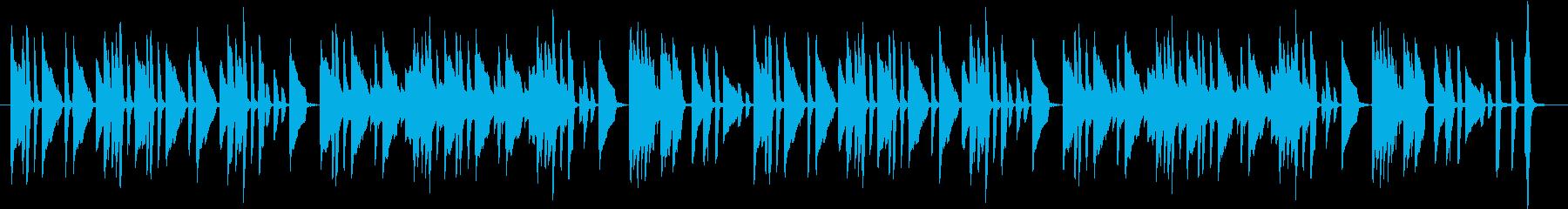 ピアノの練習曲っぽいBGMの再生済みの波形