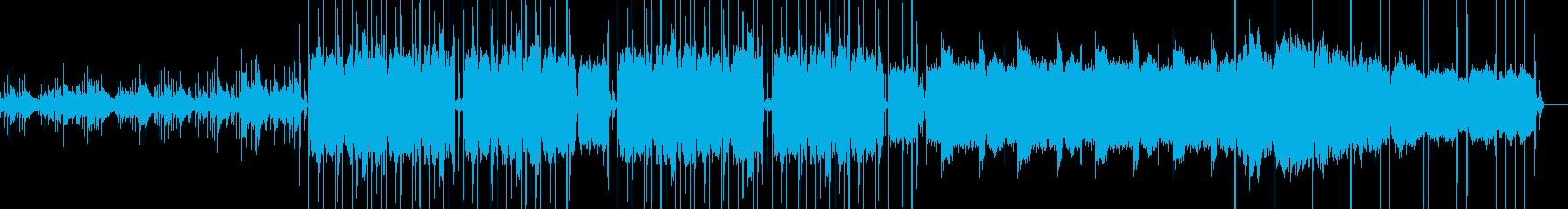 落ち着いたLoFiな曲の再生済みの波形