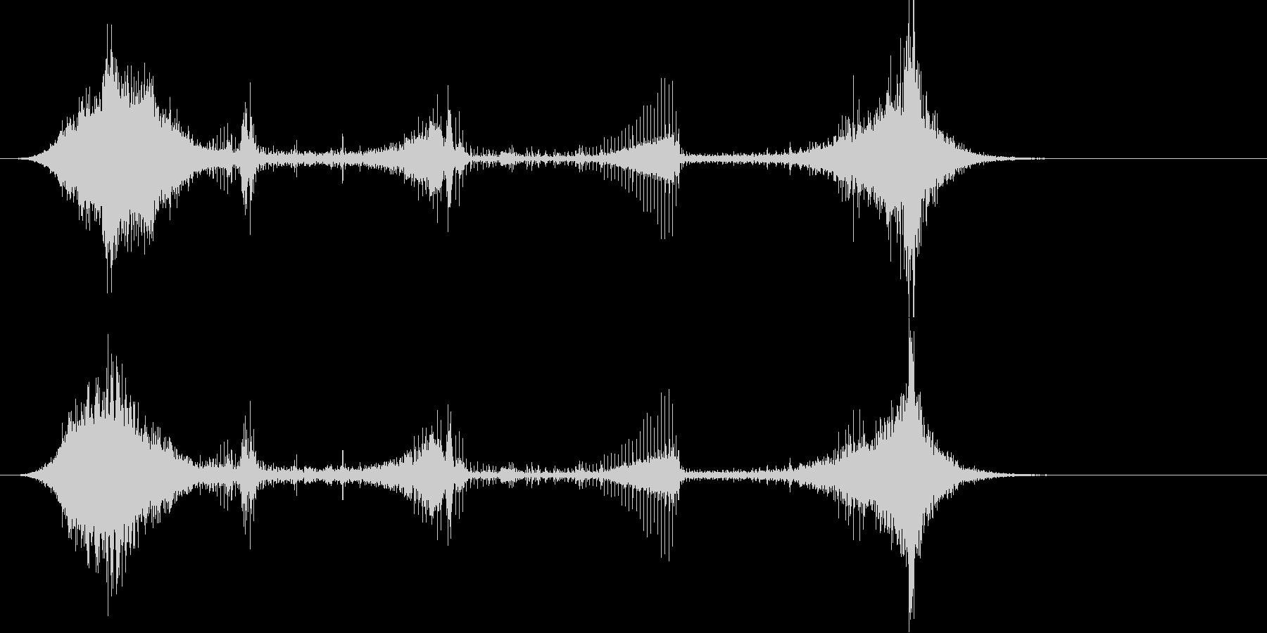 トランジション プロモーションパッド33の未再生の波形