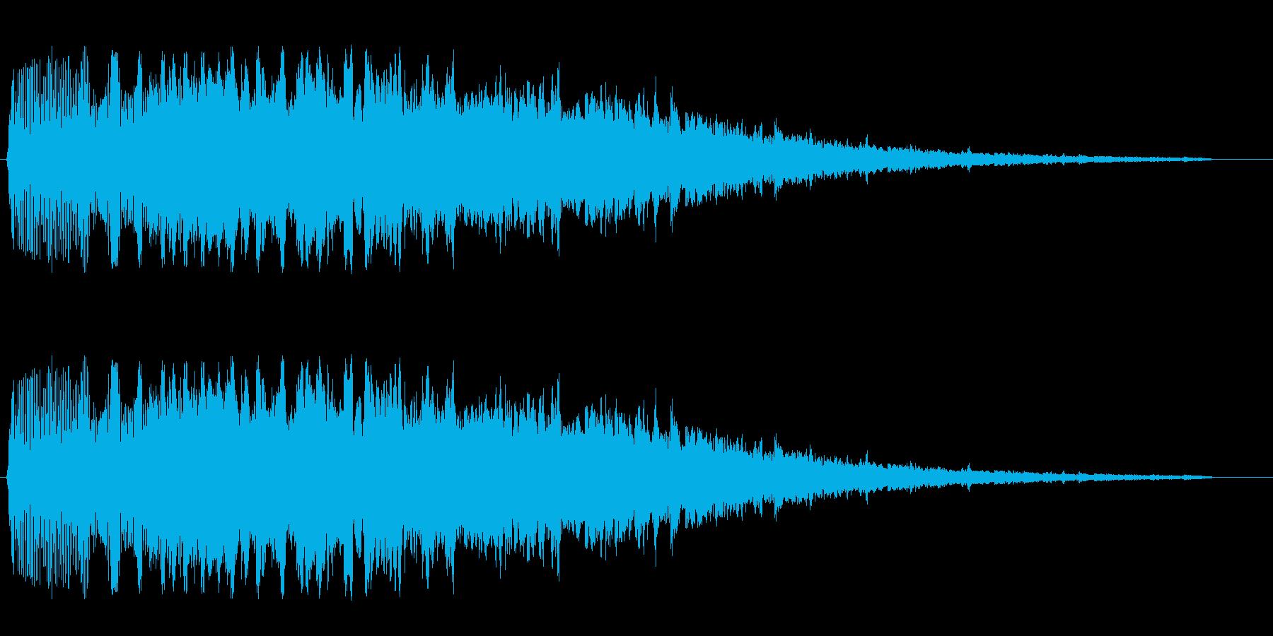 シャララ系アップ(マリンバ)の再生済みの波形