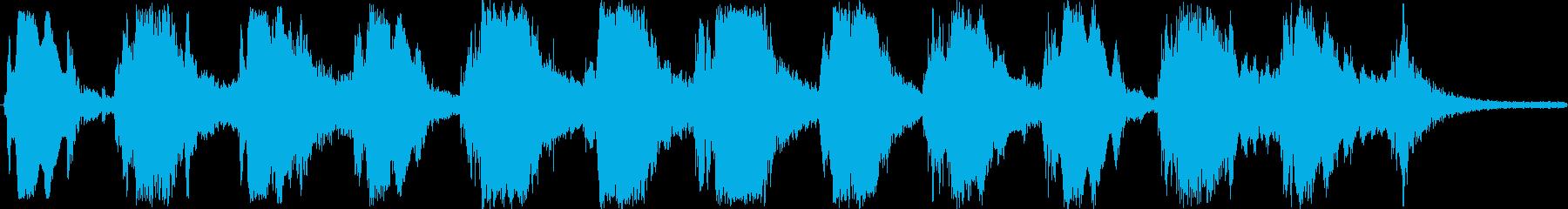 お経のようなサックスと金属音の再生済みの波形