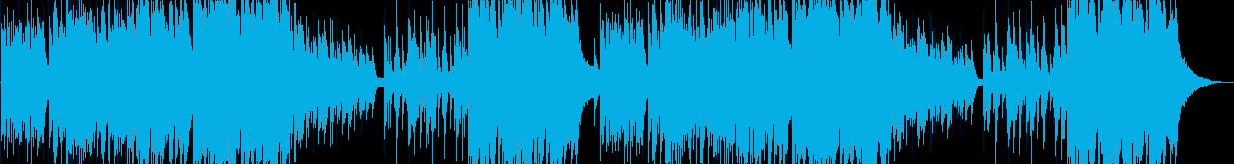 綺麗なピアノソロBGMの再生済みの波形