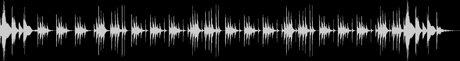 やさしく奏でられたハープのメロディの未再生の波形