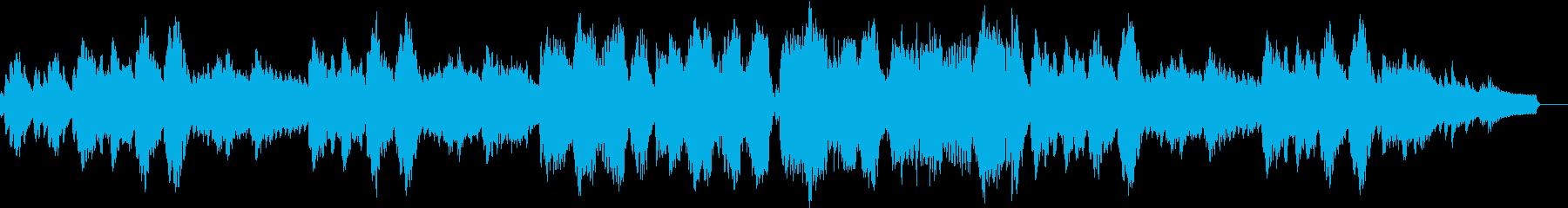 のどかな雰囲気のBGMの再生済みの波形