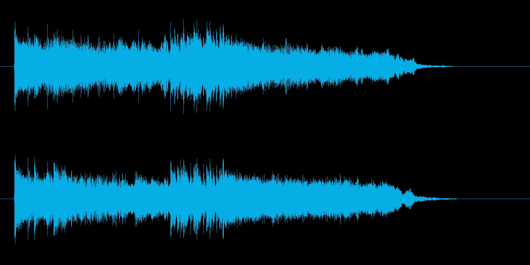 緩やかさと軽快なシンセとドラムジングルの再生済みの波形