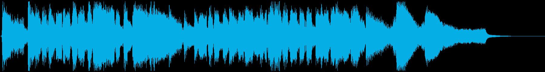 スタンダード系のジャズ◆CM向け15秒曲の再生済みの波形