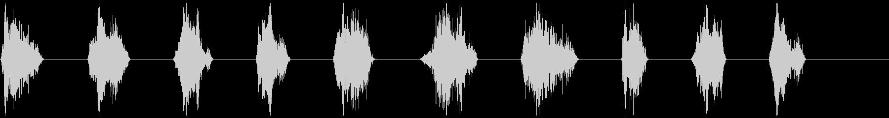 モンスター、タイプ2、うなり1〜10の未再生の波形