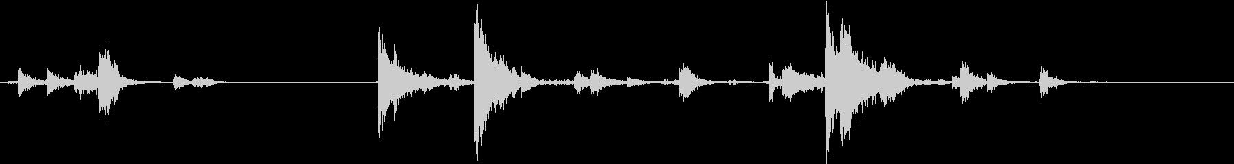 【生録音】装備品の音 金属 武器 9の未再生の波形