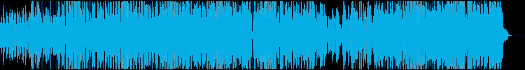 ファンクで怠惰な曲の再生済みの波形