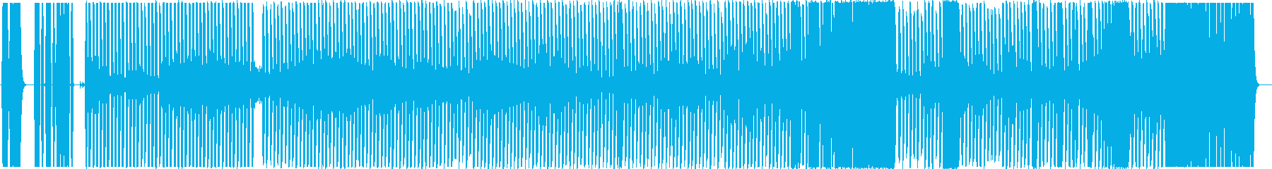 不気味なハウス・テクノ風の再生済みの波形