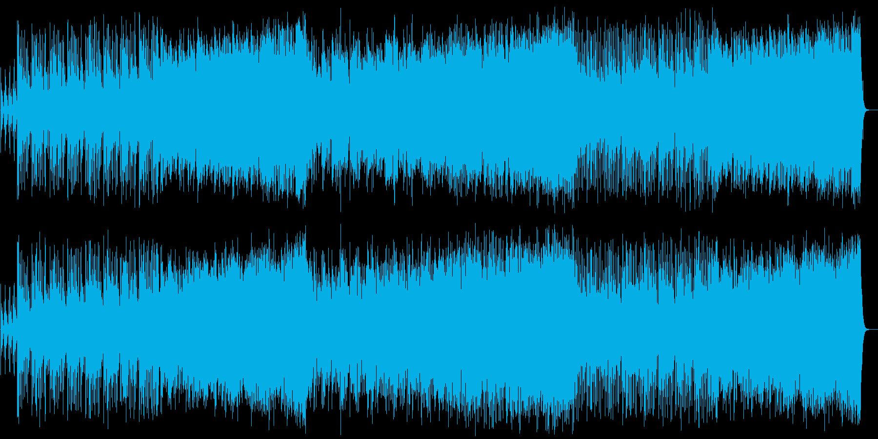 パワフルな和風曲の再生済みの波形
