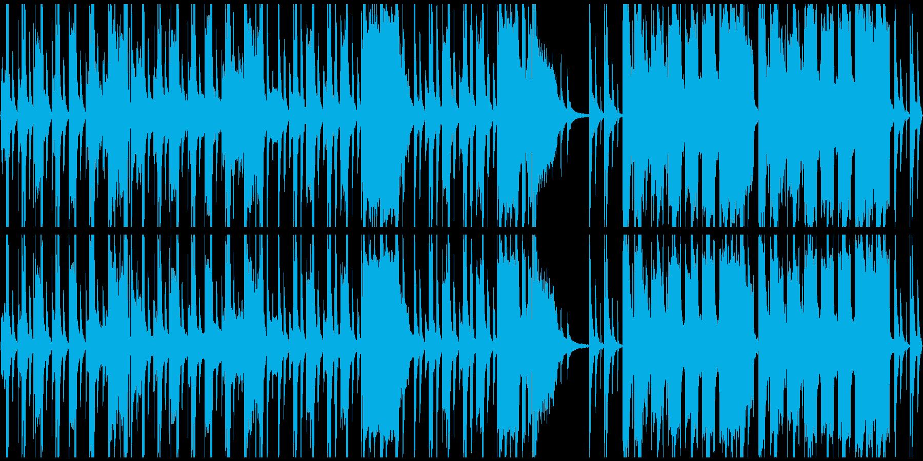 ループ、のんびり、穏やか、アコーディオンの再生済みの波形