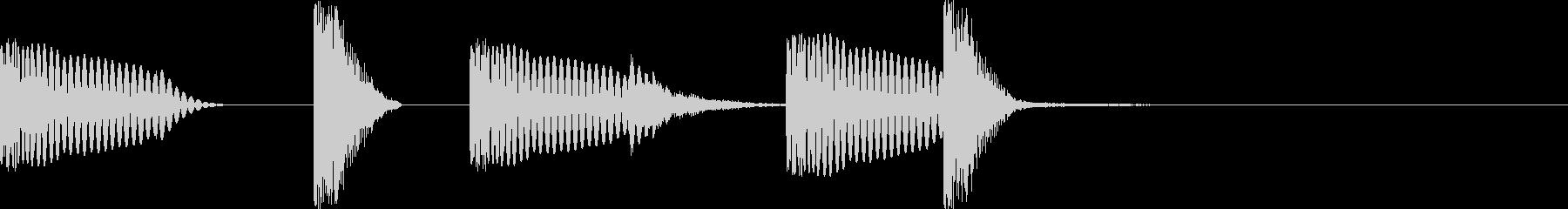 シンプルなドラムのジングルの未再生の波形