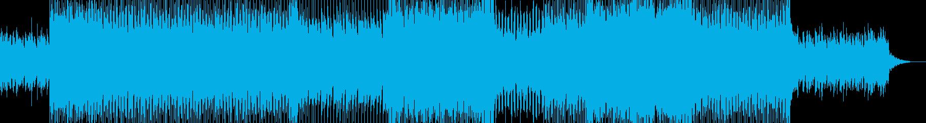 幻想的な中に悲しみと力強さを持つBGMの再生済みの波形