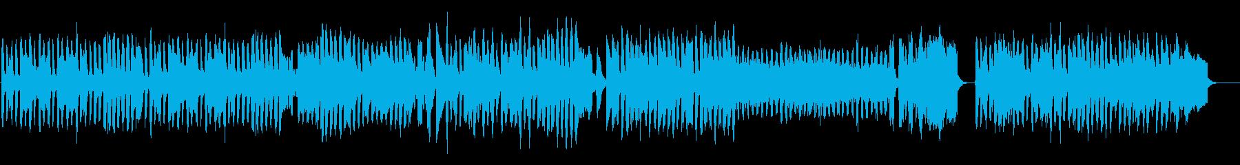 牧歌的なアコーディオンとピアノの舞曲の再生済みの波形