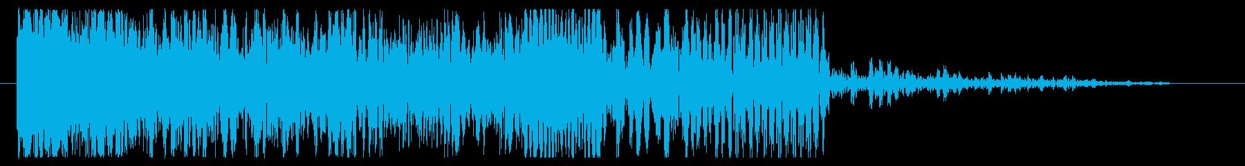 グラインドダウン、パワーダウンモー...の再生済みの波形