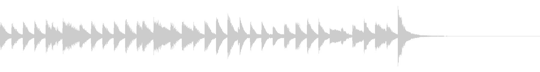 弾むリズムの可愛らしいピアノジングルの未再生の波形