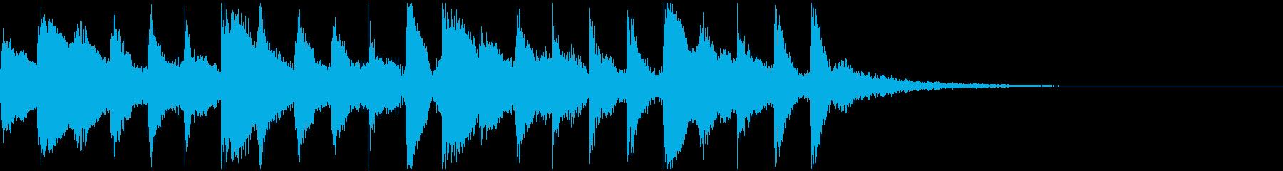 ピアノ サウンドロゴの再生済みの波形