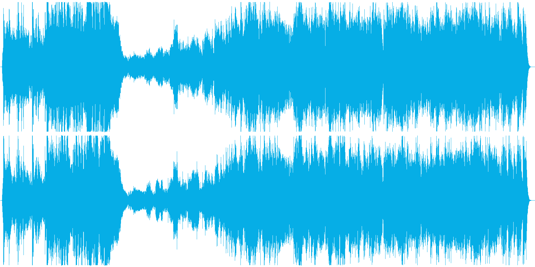 自然の息吹を感じらる壮大な和風のBGMの再生済みの波形