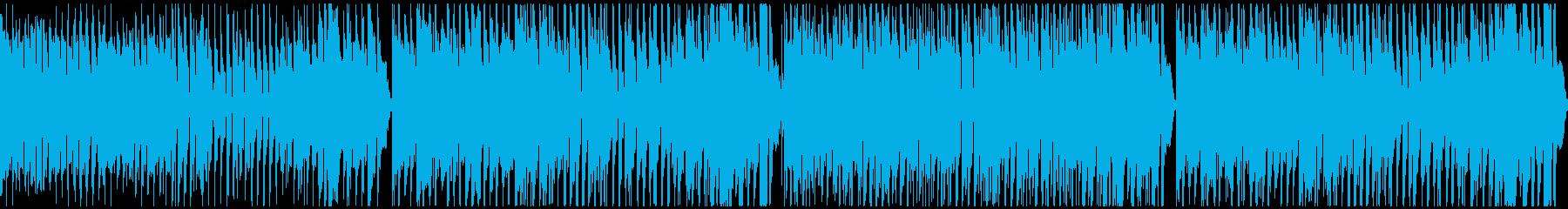 明るく楽しい元気な曲:ループ対応の再生済みの波形