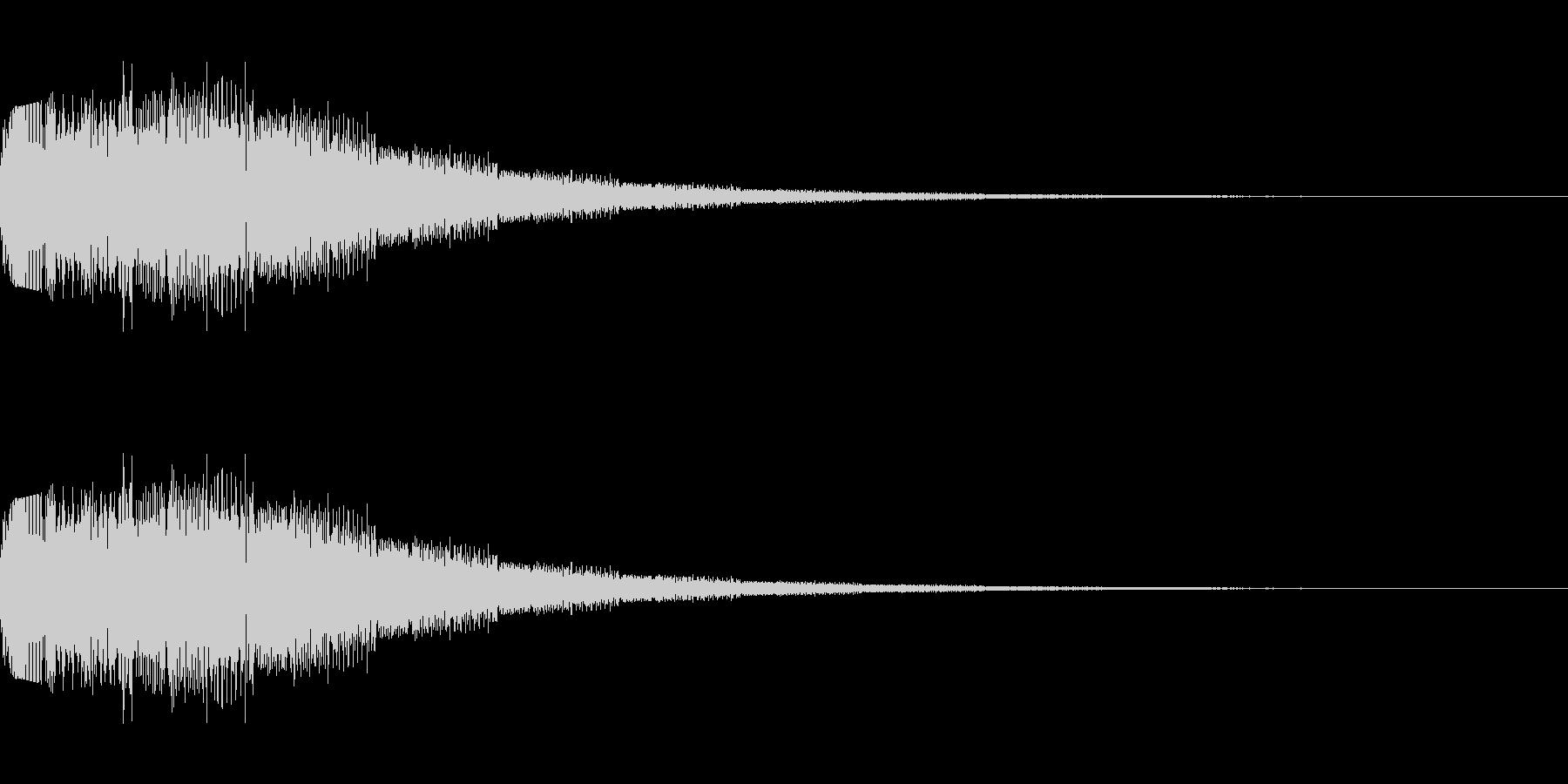 シンセサイザー 決定・選択・UI 4の未再生の波形